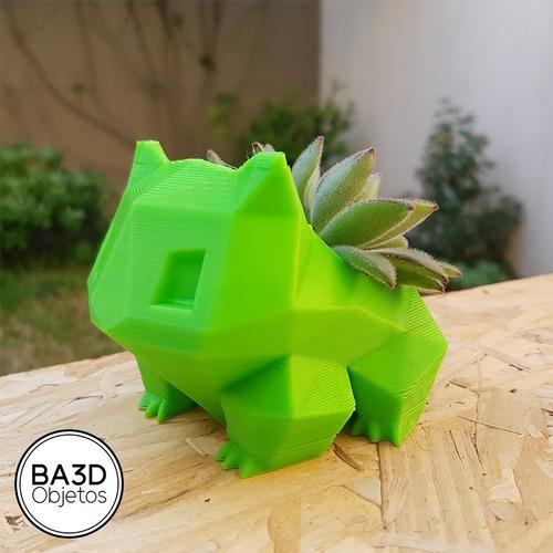 mini maceta bulbasaur pokemon ideal cactus suculenta