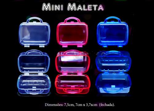 mini maleta de acrílico para lembrança com 30 unidades