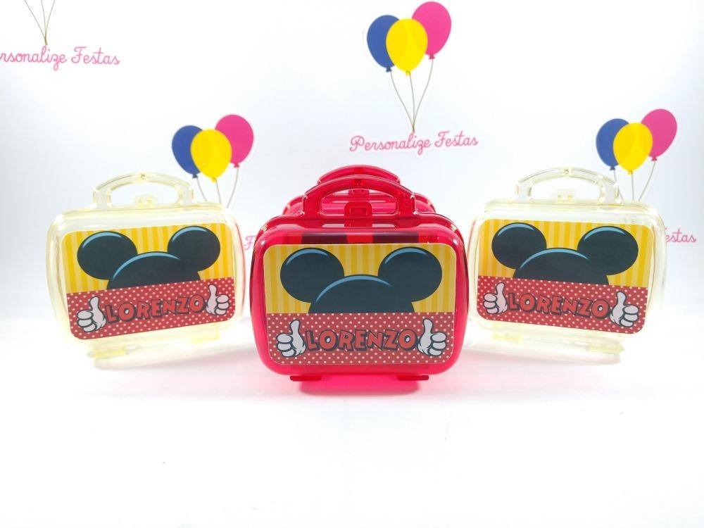9b37f621f Mini* Maletas Acrílica Personalizada Mickey Mouse (40 Unid) - R$ 94 ...
