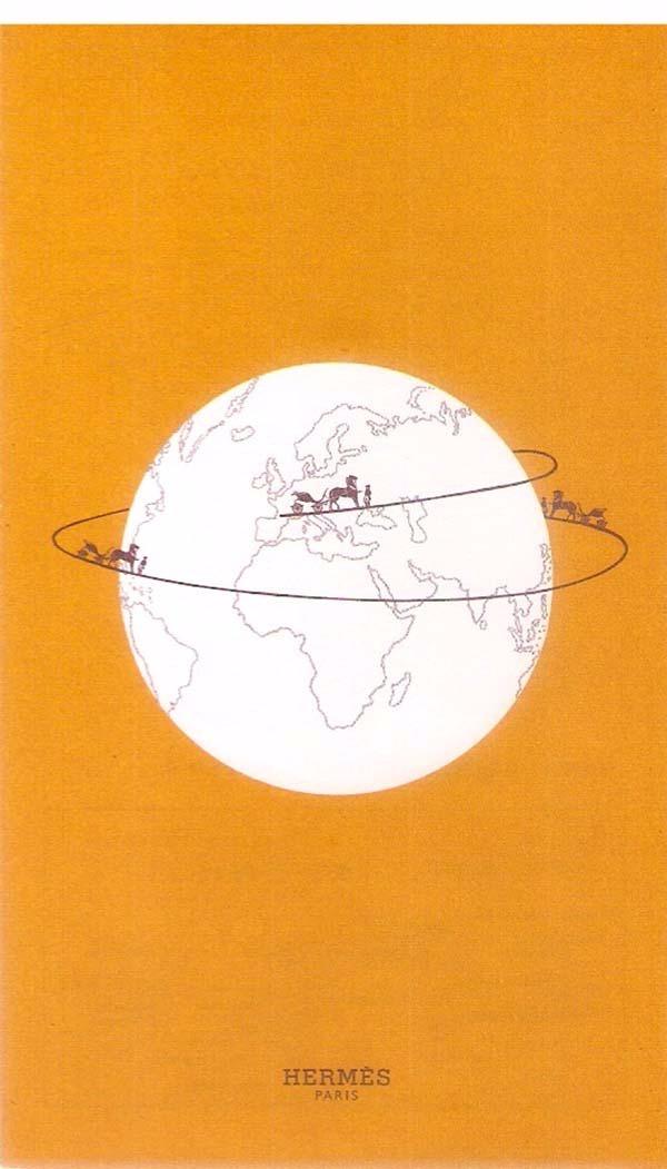 Mini 18pg Mapa 12 Hermès Paris 42 De Mundi 7 Cm X Bolso Luxo R qgrZqA1n