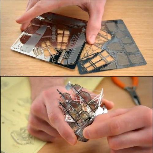 mini maqueta 3d metálica piece fun como metal earth