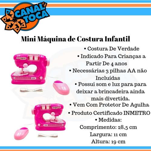 mini máquina costura atelie infantil bw035