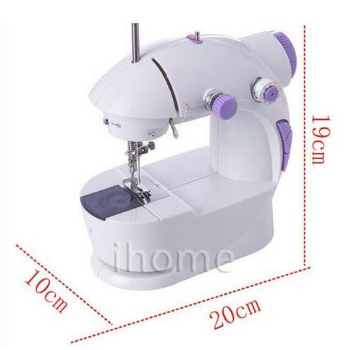 mini maquina costura elétrica portátil luz led acessórios