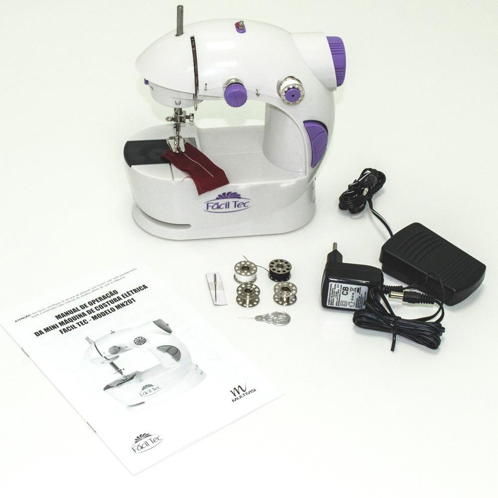 4e01bb98f mini máquina costura portátil com luz fácil tec. Carregando zoom.