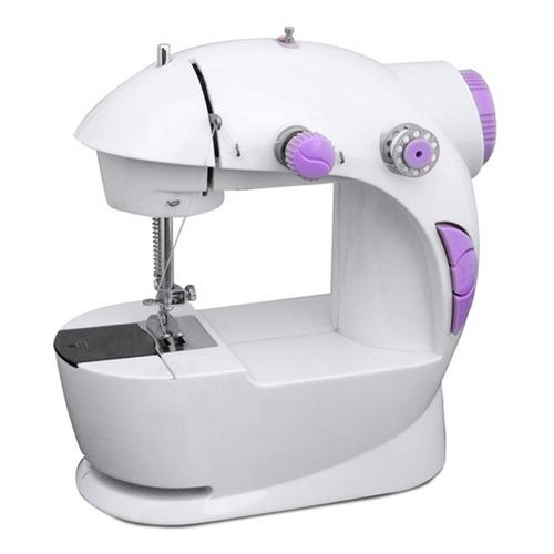 mini máquina de coser portátil  + adaptador de corriente