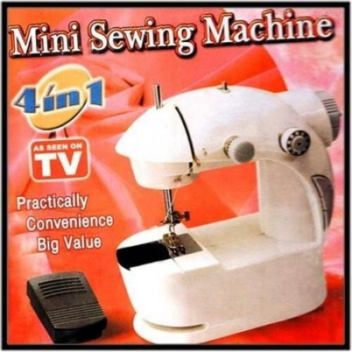 mini maquina de coser portatil sewing machine 4 en 1 hilo tv