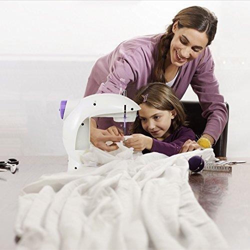 mini máquina de coser varmax 201 con mesa extensible