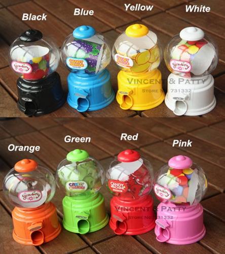 mini máquina de dulces dispensador colores burbuja nuevas