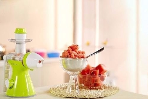 mini máquina espremedor fazer sorvete de frutas suco manual