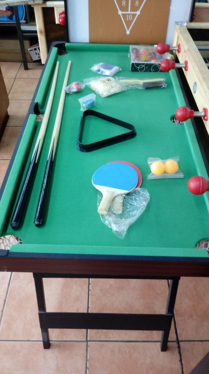 71b4a464b Mini Mesa De Pool 3x1 Juego De Mini Pool