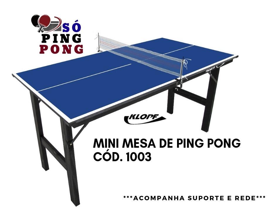 2a2e4daa4 Mini Mesa De Tênis De Mesa   Ping Pong - Mdp 12mm - Klopf - R  239 ...
