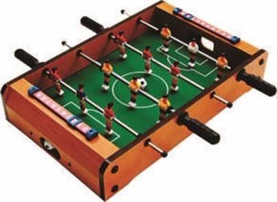 mini mesa futebol pebolim madeira toto 12 jogadores + bola