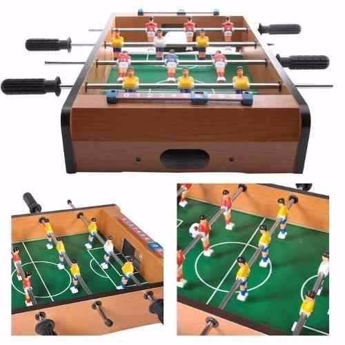 mini mesa pebolim futebol totó com placar bola 50x31x10 cm