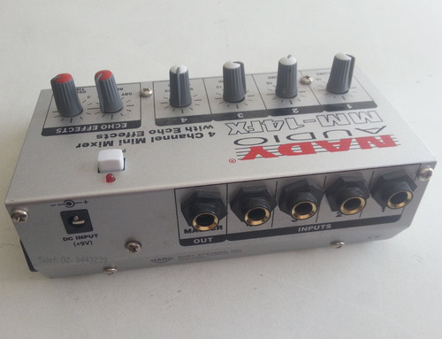 mini mesclador con reverberancia nady audio mm-14fx nuevo