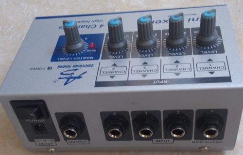 mini mezclador as mm4 american sound 4 canales