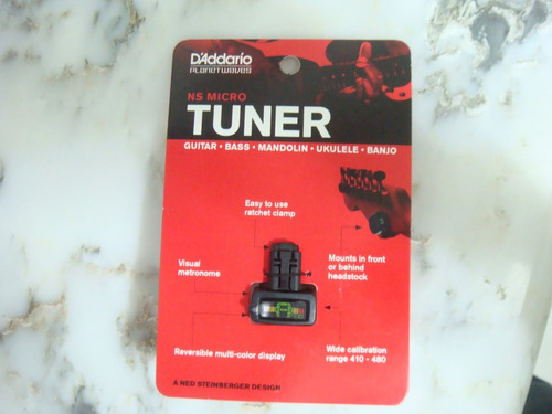 mini / micro afinador planet waves headstock tuner ns design