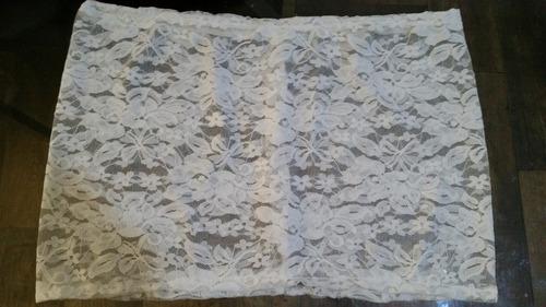 mini micro saia renda branca transparente sexy saida/praia