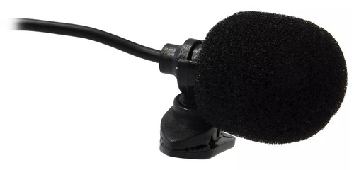 mini microfone fm sem fio de lapela c/ receptor 20 m estojo
