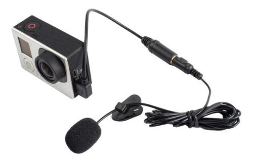 mini microfone usb profissional externo  gopro hero 3/3 +