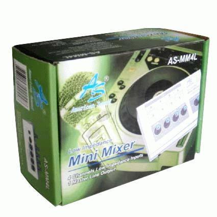 mini mixer microfono 4 canales american sound baja impedanci