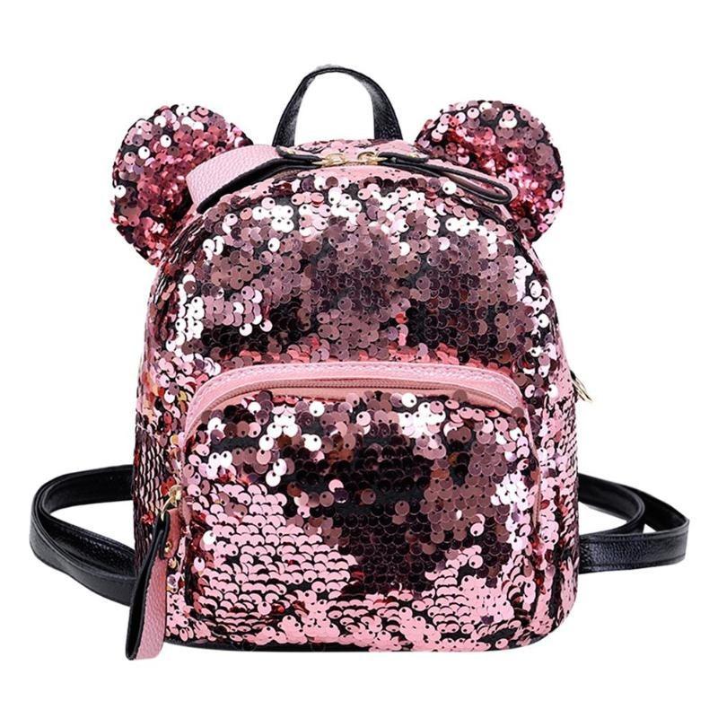 f638368dc mini mochila infantil feminina lantejoulas moda linda super. Carregando  zoom.