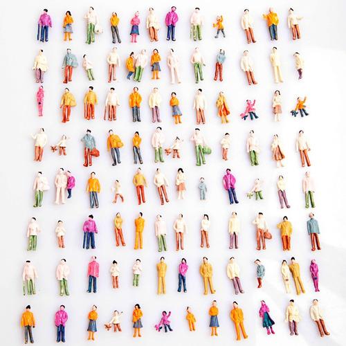 mini modelo de pessoas para maquete ferromodelismo escala h0