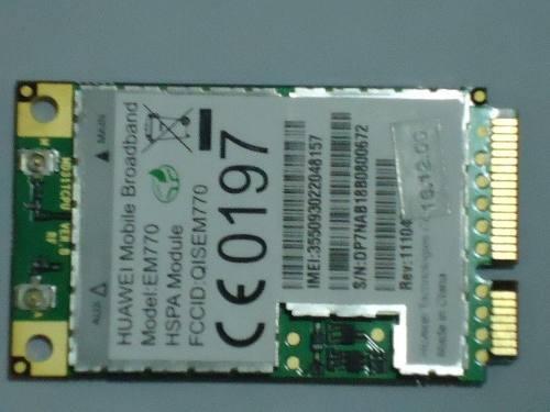 mini modem interno 3g notebook huawei em770