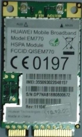 HUAWEI E770 3G DRIVER FREE