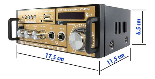 mini módulo receiver bluetooth usb 2 canais radio fm fonte