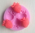 mini molde de silicón 3d figuras de gatitos y fresas