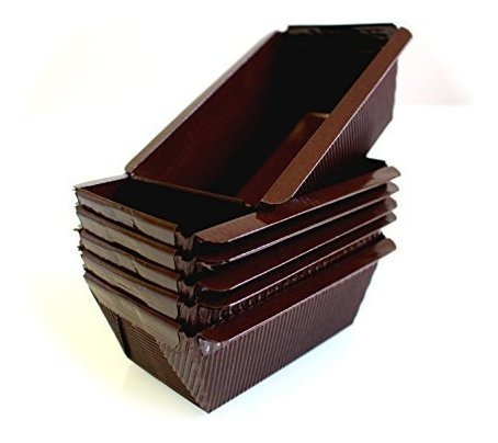 mini molde para pastel de pan de papel rectangular marron -