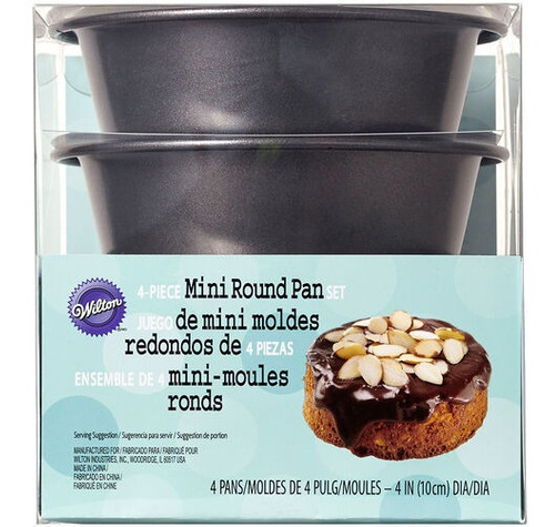 mini moldes redondos 4 piezas wilton 2105-0117