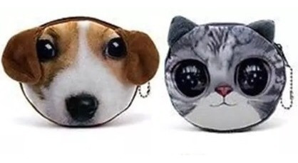 mini monedero cute de gatos y perros