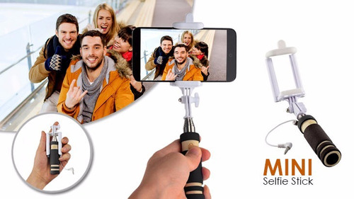 mini monopod retratil para celular samsung moto iphone
