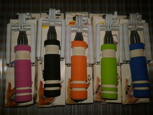mini monopod selfies extendible cable audio oferta