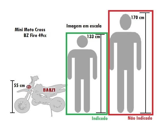 5c707915bab Mini Moto Bz 49cc Fire A Gasolina Com Óleo 2 Tempos Barzi - R  1.503 ...