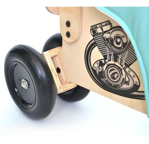 mini moto cafe racer de madera - patapata aupa motis