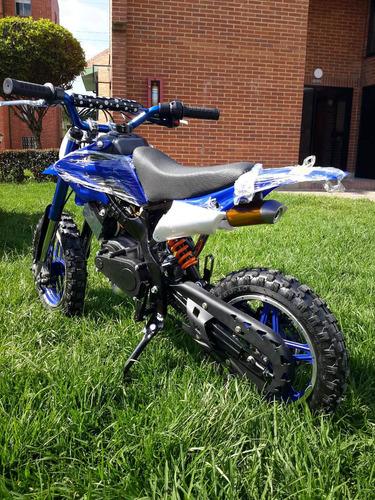 mini moto cross 49 cc gasolina encendido electrico 0km