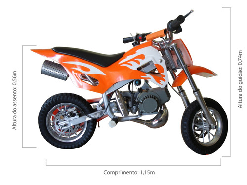 mini moto cross 49cc infantil bz fire barzi motors