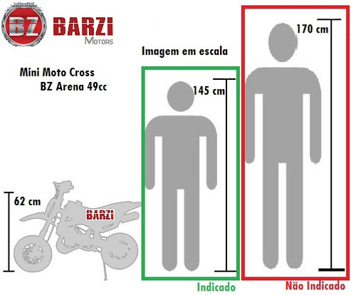 mini moto cross bz arena 49cc 2 tempos barzi motors