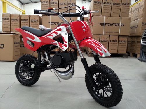 mini moto cross gasolina 49cc 2t, partida easy pull starter