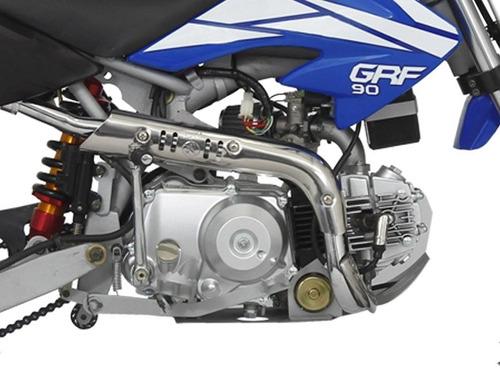 mini moto cross guerrero grf 90 azul kinder agente suzuki