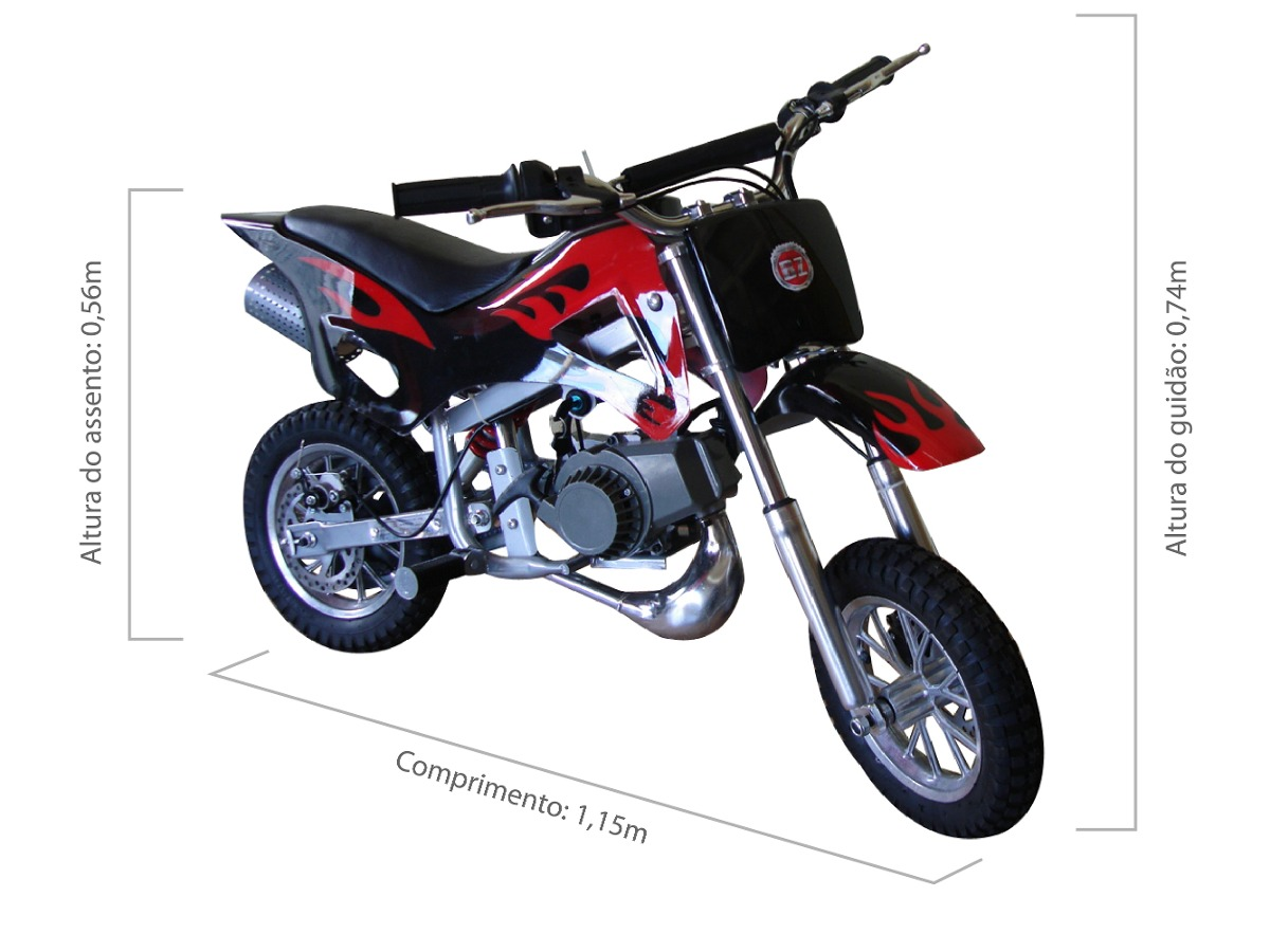 mini moto cross infantil gasolina 49cc bz fire r 1. Black Bedroom Furniture Sets. Home Design Ideas