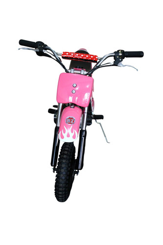 mini moto cross infantil à gasolina 49cc bz fire - cor rosa