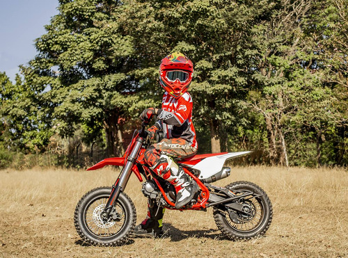 mini moto cross infantil laminha 100 - quadri e cia off road
