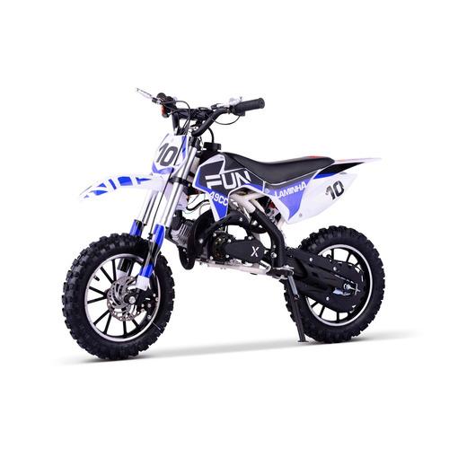mini moto cross infantil laminha 49cc qec off road