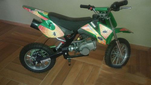 mini moto cross st-db49h - verde