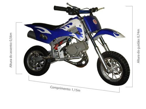 mini moto cross velocidade máxima 50km/h