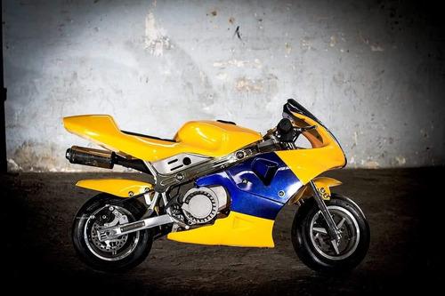 mini moto de pista 50 cc automatica velocidad maxima 30km