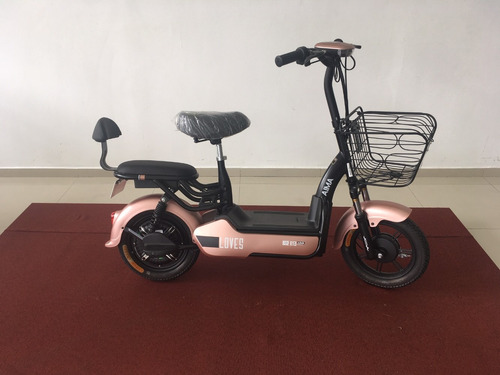 mini moto eletrica 350w rosa